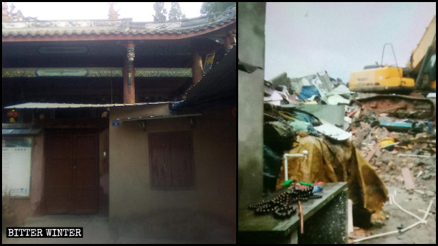 The Puzhao Temple was demolished on orders from the government.
