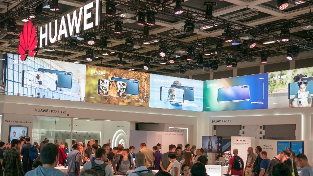 Huawei at an international fair in Berlin, Germany.