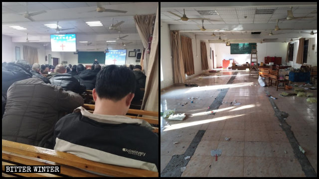 A Local Church venue in Hangzhou before and after it was shut down.