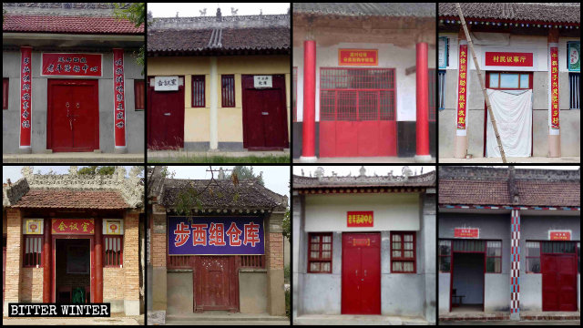 Temples across Shaanxi have been converted into entertainment centers for seniors, meeting rooms, warehouses, and even garbage collection centers.