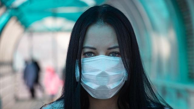 coronavirus covid-2019 Girl in mask