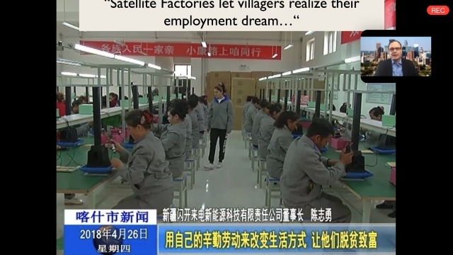 "Zenz discussing CCP propaganda about ""poverty alleviation"" in Xinjiang."