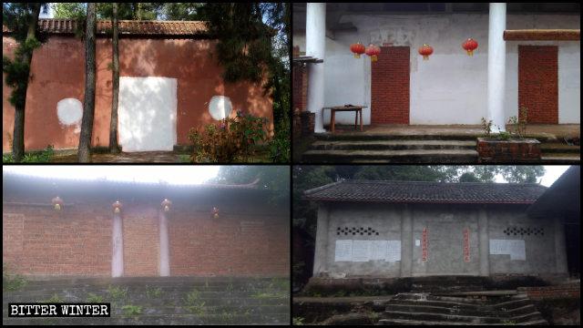 Multiple temples were shut down in Neijiang city last year.