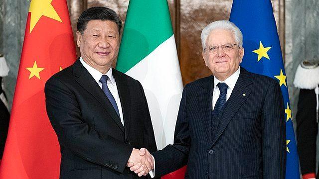 Xi Jinping visits Italian President, Sergio Mattarella.