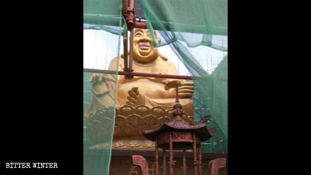 The Maitreya statue in Qingdao's Zaohang Park