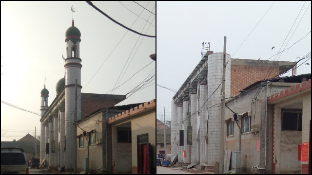 The mosque in Xiaoma underwent drastic changes.