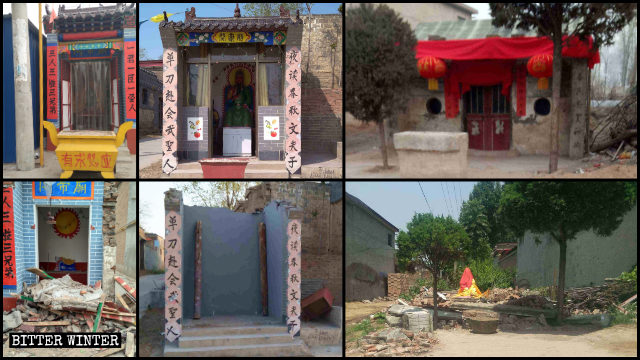 Many folk religion temples have been demolished in Hebei's Handan city.