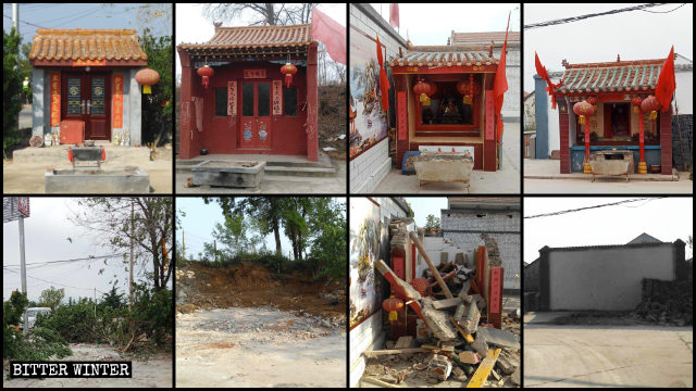 Many folk religion temples have been rectified in Heshun town.