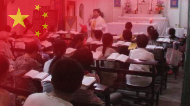 A Catholic church in Jiangxi Province under persecution