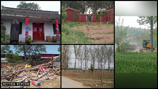Folk religion temples were demolished across Henan Province