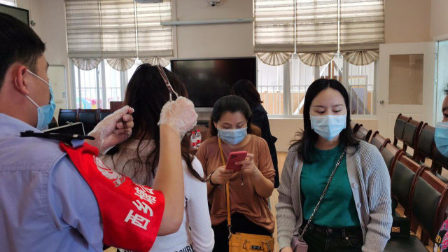 Hair samples were collected in Xitang town in Zhejiang Province's Jiashan county.
