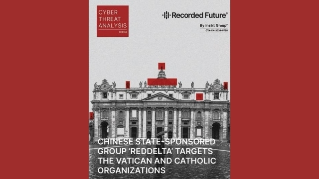 Chinese State-sponsored Group Reddelta Targets the Vatican and Catholic Organizations - book cover