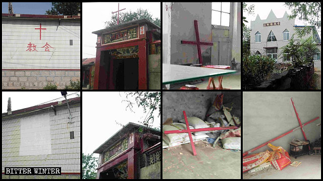 Crosses were removed from many venues in Zibo's Gaoqing county.