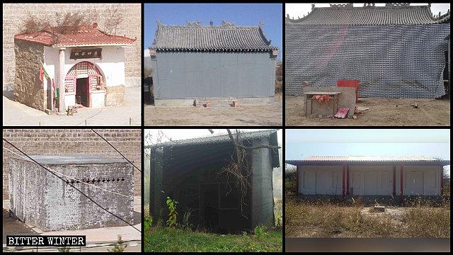 Many folk religion temples in Yan'an