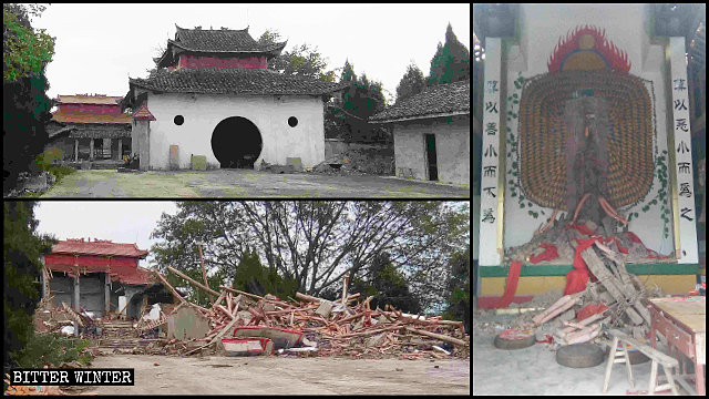 The Qinglong Mountain Temple was demolished on May 28.