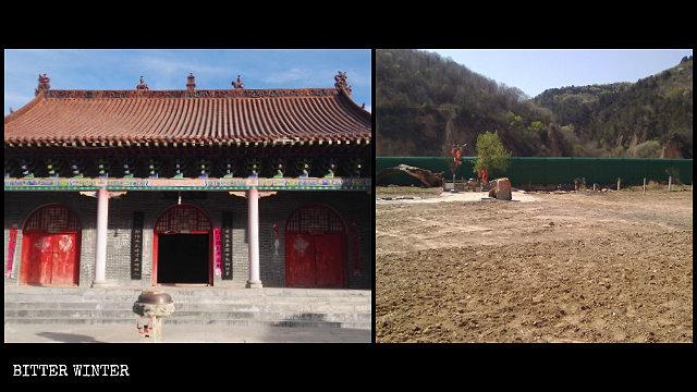 The Bailong Temple in Yan'an