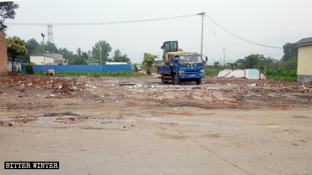 A Three-Self Church venue in Songyao village was demolished on June 19.