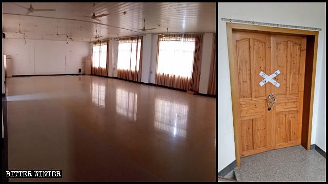 The meeting venue was emptied, its doors locked.
