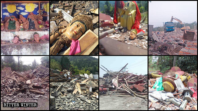 Many temples have been demolished across Sichuan Province.