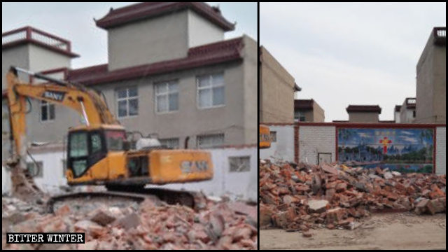A Three-Self church in the Fuxing district was demolished on April 15