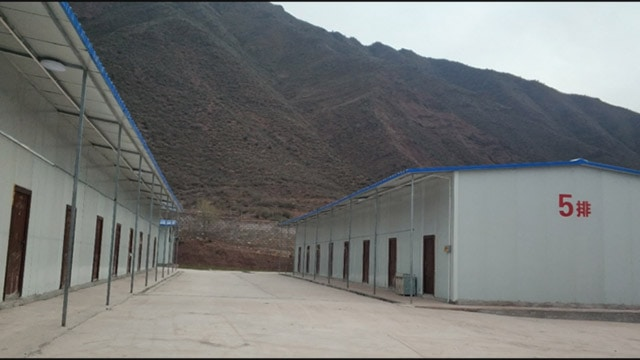 A military-style training center for Tibetan workers. Source: Adrian Zenz and the Jamestown Foundation.