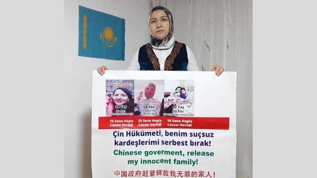 Gulaisha Oralbay in solitary protest for her siblings.