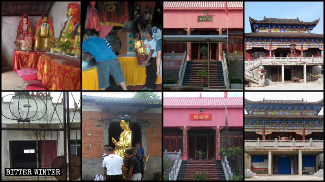 Many Jianli county temples were shut down or repurposed
