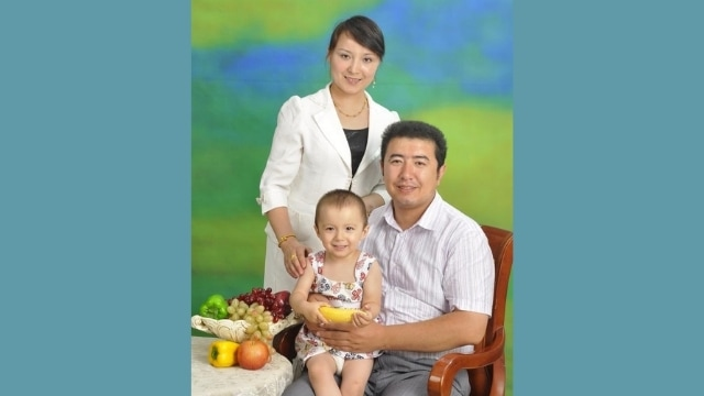"""Jailed and """"disappeared"""": Miradil Ablet with wife and daughter"""