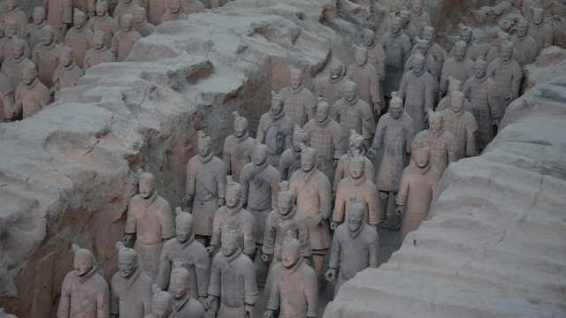 The Terracotta Army of Shaanxi, China's most famous archeological finding