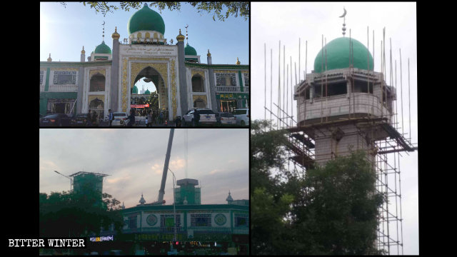 The Nanguan Grand Mosque domes were removed in June