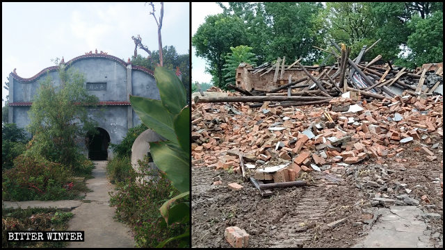 The Taishan Temple was demolished in May