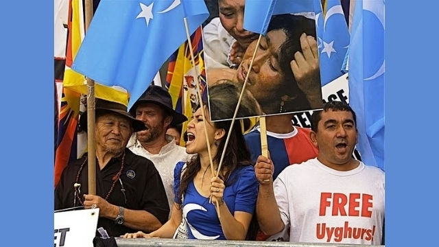 A Uyghur protest in New York