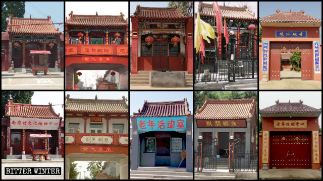 The government has taken over numerous folk religion temples across Linzhou.