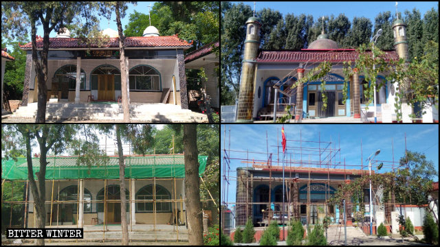 Domes were removed from two other mosques in Dingzhou city.
