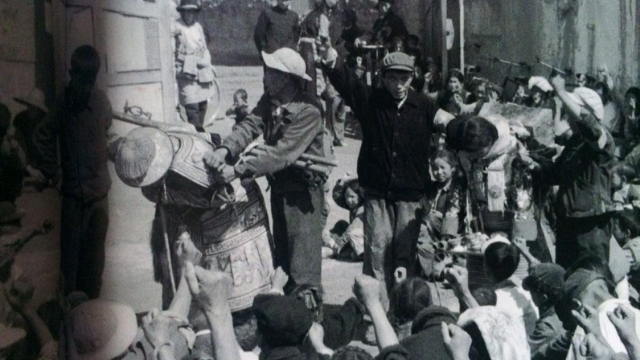 "Public persecution of ""counter-revolutionaries"" during the Cultural Revolution (here in Tibet, 1966)."