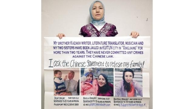 イスタンブールで彼女の兄弟を擁護するGulaishaOralbay。