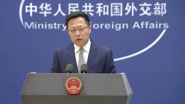 """Chinese Foreign Ministry spokesperson Zhao Lijian, one of the most notorious """"wolf warrior diplomats."""""""