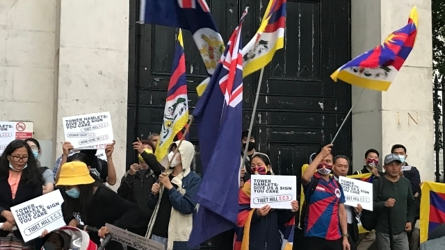 Tibetan supporters advocating Tibet Hill as one of the new street names.